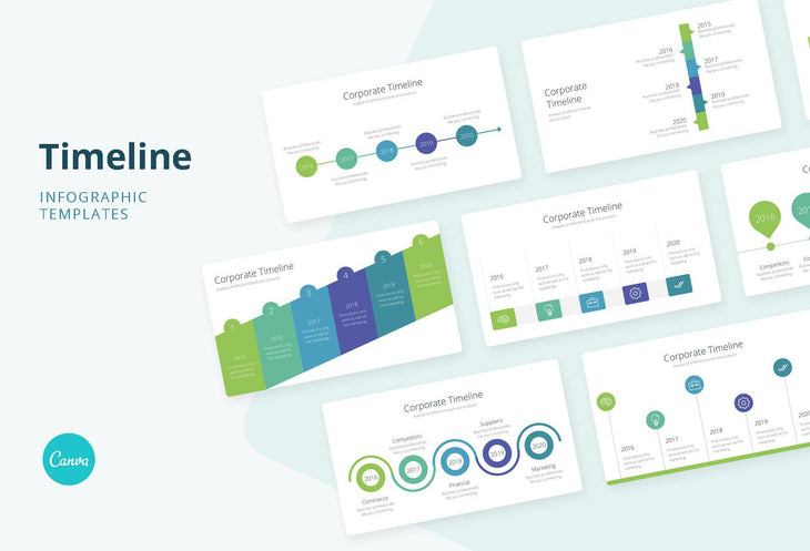 Timeline Infographics for Canva