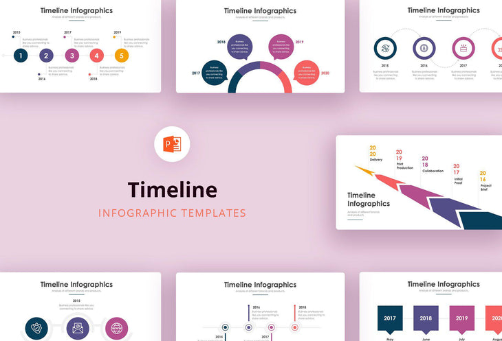 Timeline Infographics - PowerPoint Template