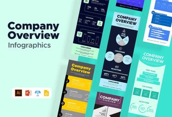 Verona Company Overview Infographics Bundle