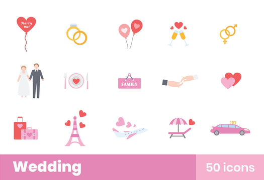 Wedding Icons Pack 02