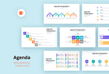 Agenda Infographics 2 - PowerPoint Template
