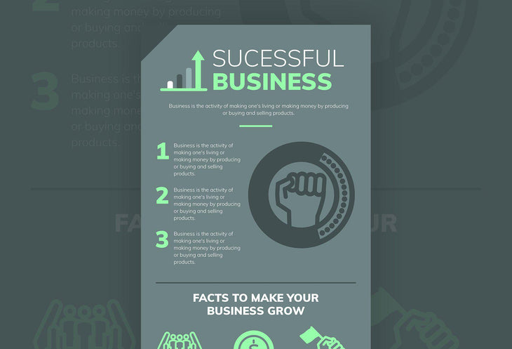 Successful Business Free Infographic Template