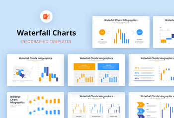 Waterfall Charts Infographics - PowerPoint Template