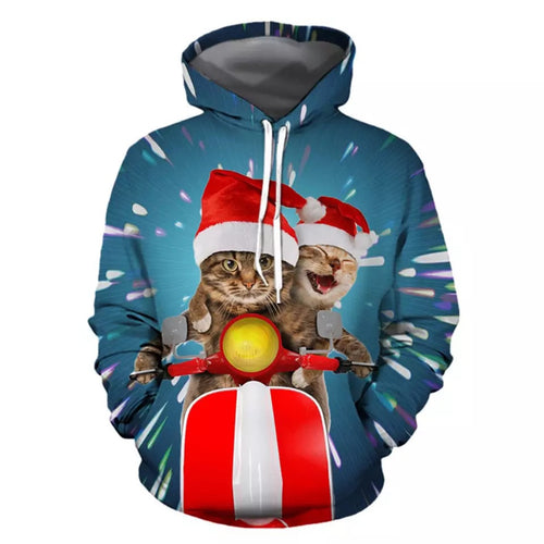 3D Print Cat Hoodies