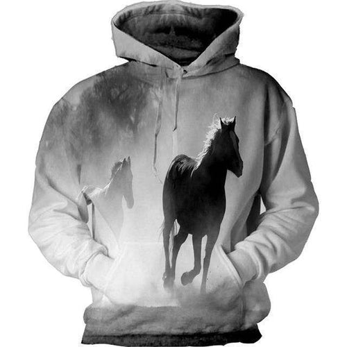 All Over Print Horse Hoodie