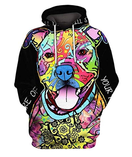 All Over Print Pitbull Hoodies