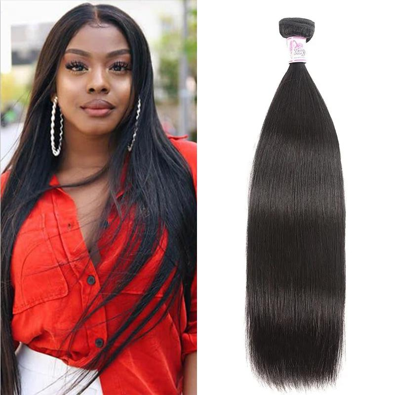 Brazilian Virgin Hair 100% Human Hair Straight (#1B Natural Black)