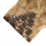 16 – 26 Inch Clip In Remy Hair Extensions Body Wave (#27 Strawberry Blonde)
