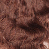 16 – 26 Inch Clip In Remy Hair Extensions Body Wave (#33 Dark Auburn)