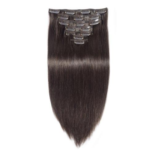 16 – 26 Inch Clip In Remy Hair Extensions Straight (#2 Dark Brown)