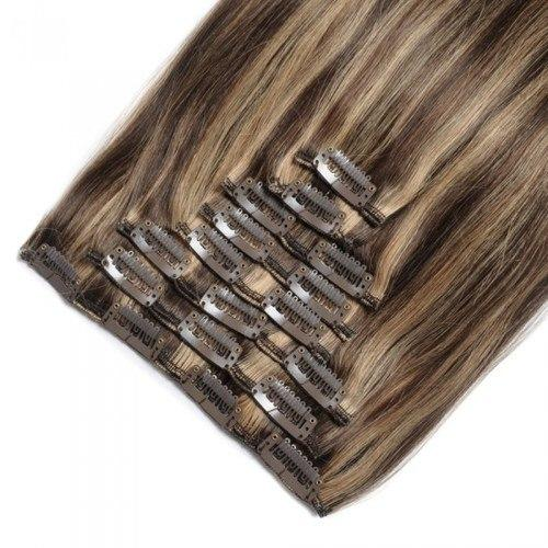 16 – 26 Inch Clip In Remy Hair Extensions Straight (#4/#27)