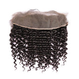 10 – 20 Inch Virgin Hair Curly Lace Frontal (#1B Natural Black)