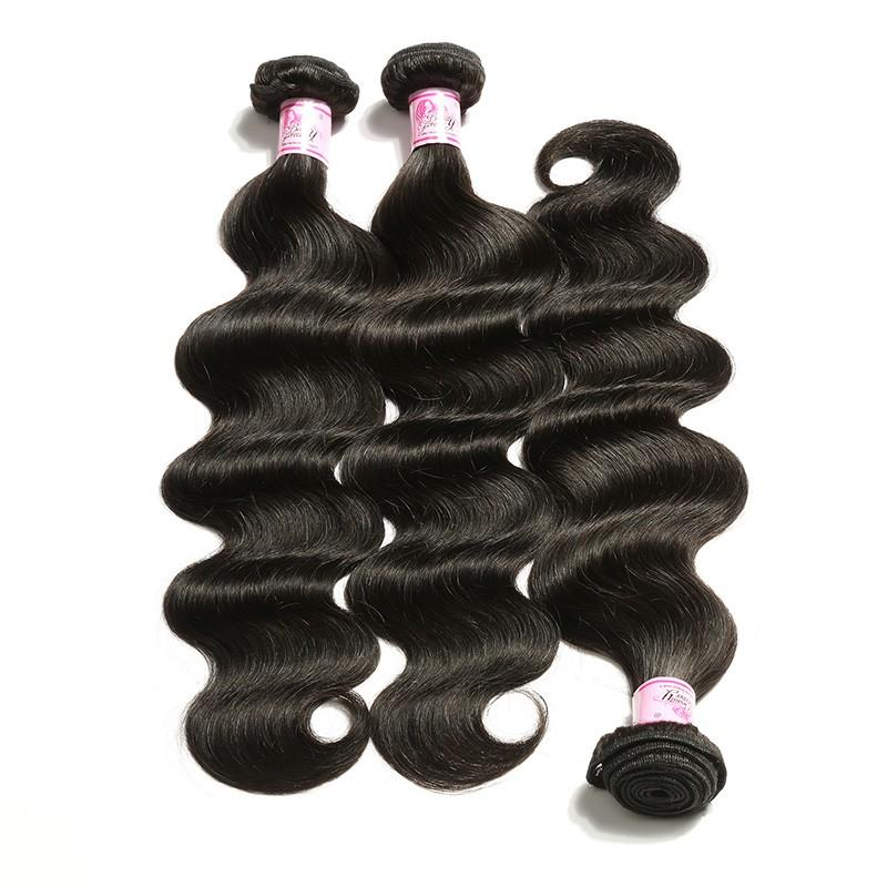 European Virgin Hair 100% Human Hair Body Wave (#1B Natural Black)
