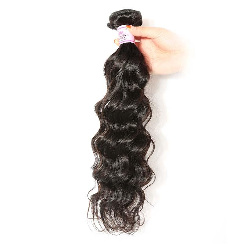 European Virgin Hair 100% Human Hair Natural Wave (#1B Natural Black)