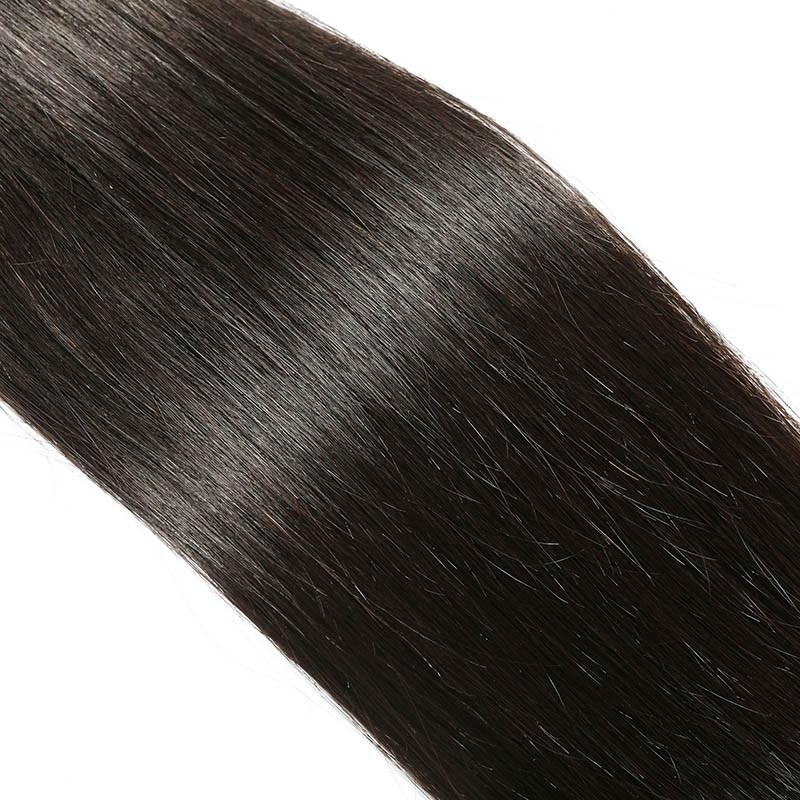 European Virgin Hair 100% Human Hair Straight (#1B Natural Black)