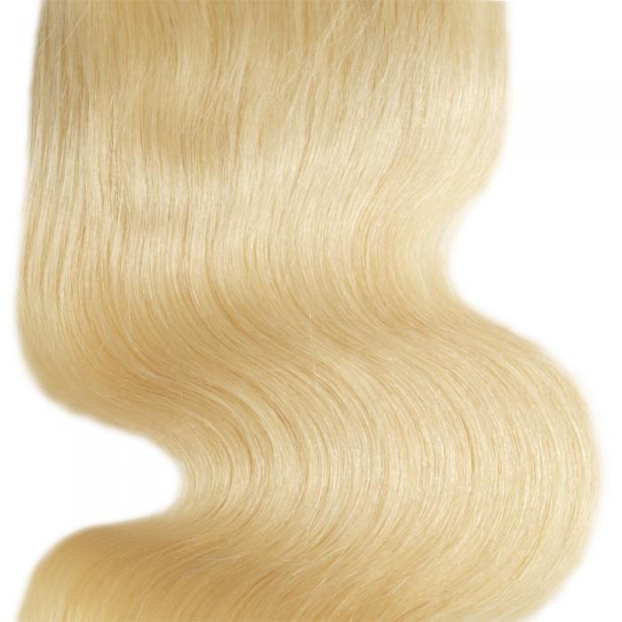 10 – 20 Inch Free Part Body Wave Lace Closure #613 Blonde