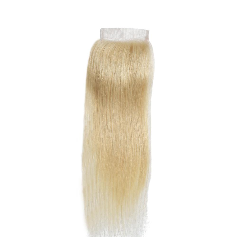 10 – 20 Inch Free Part Straight Lace Closure #613 Blonde