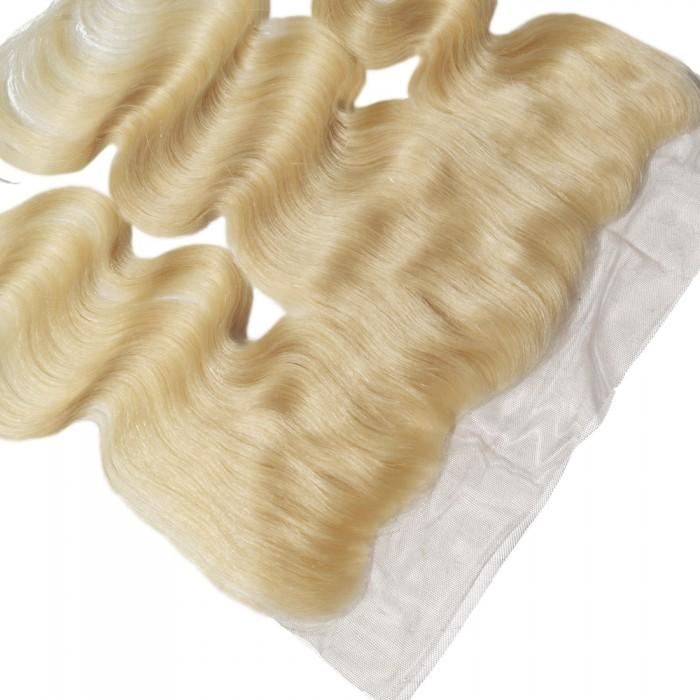 10 – 20 Inch Free Part Body Wave Lace Frontal #613 Blonde