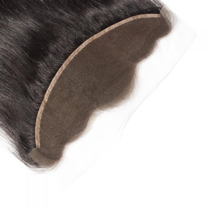 10 – 20 Inch Virgin Hair Straight Lace Frontal #1B Natural Black