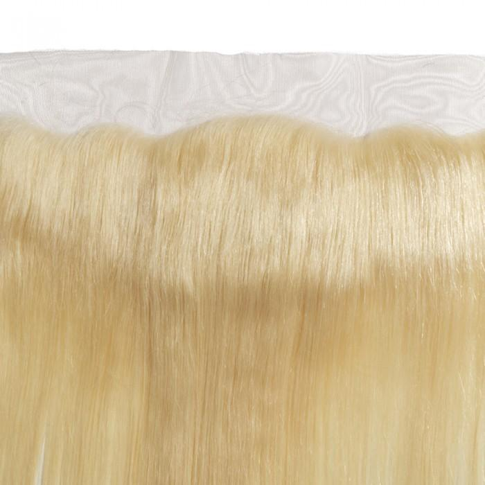 10 – 20 Inch Free Part Straight Lace Frontal #613 Blonde
