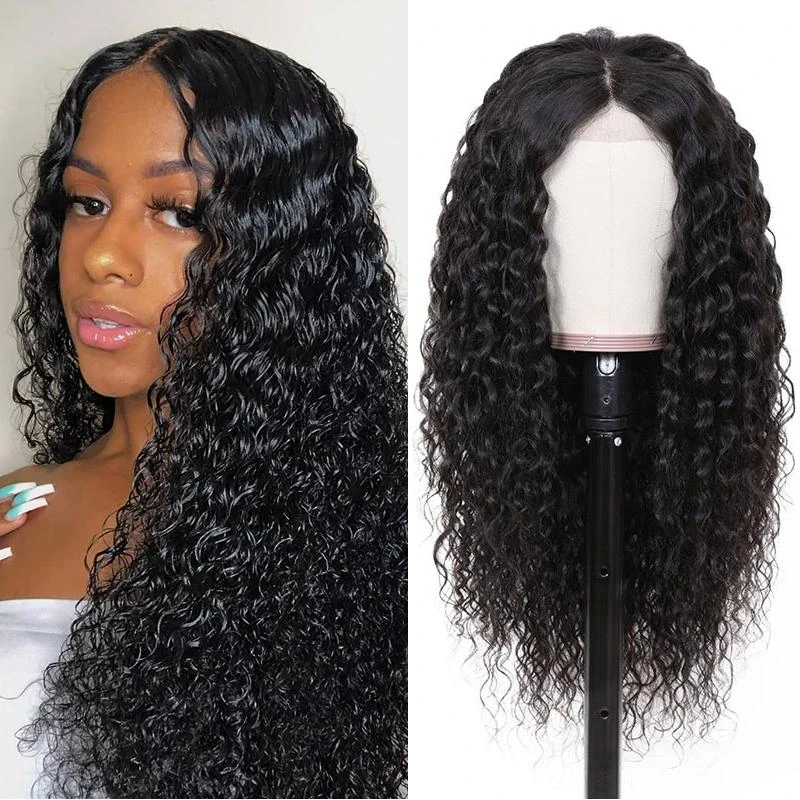 Pre-Plucked 360 Lace Frontal Wigs Virgin Hair Curly Wig