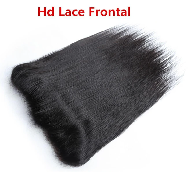 10 – 20 Inch Human Virgin Hair HD Lace Frontal (#1B Natural Black)