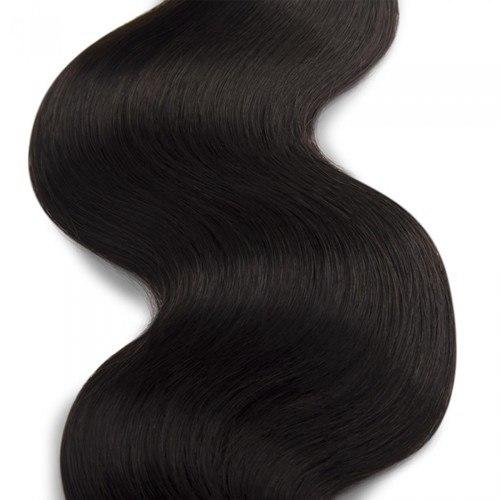 16 – 26 Inch Human Remy Hair Extensions Body Wave (#1B Natural Black)