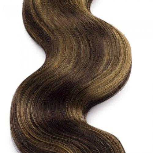 16 – 26 Inch Human Remy Hair Extensions Body Wave (#4/#27)