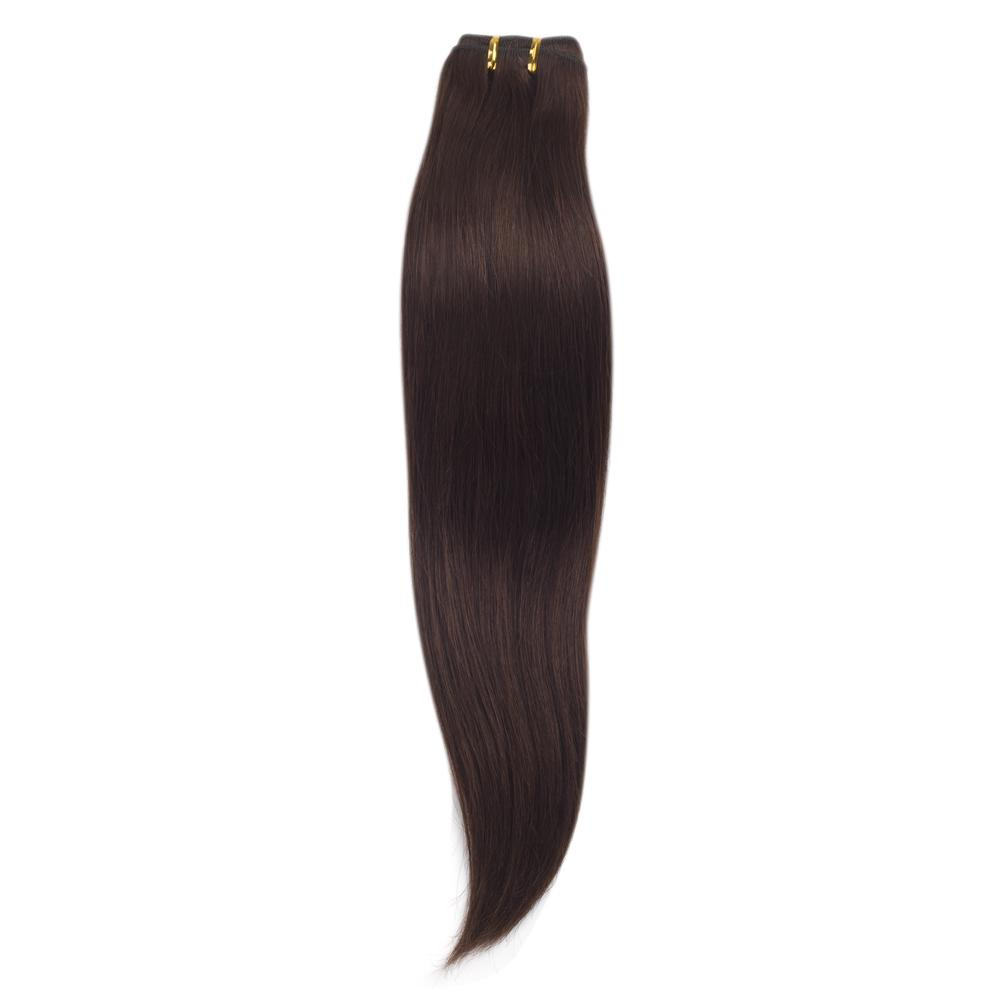 16 – 26 Inch Human Remy Hair Extensions Straight (#4 Medium Brown)