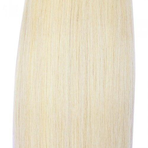 16 – 26 Inch Human Remy Hair Extensions Straight (#60 White Blonde)
