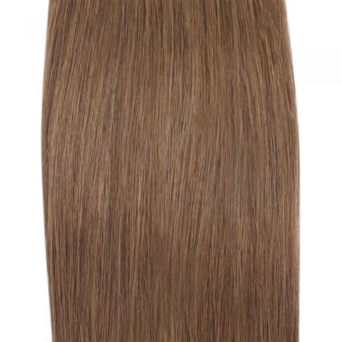 16 – 26 Inch Human Remy Hair Extensions Straight (#8 Light Brown)