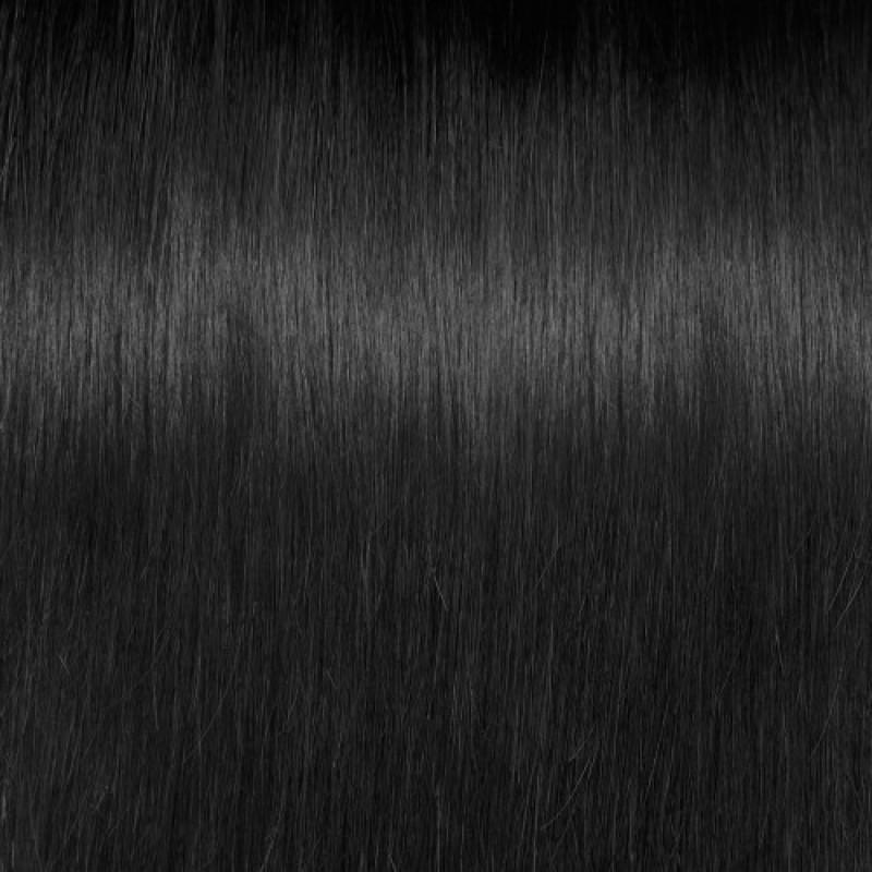 16 – 24 Inch Nail I Tip Remy Hair Extensions Straight (#1 Jet Black)