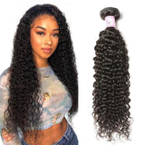 10 – 30 Inch Indian Virgin Hair 100% Human Hair Curly (#1B Natural Black)