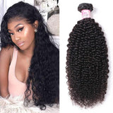 10 – 30 Inch Indian Virgin Hair 100% Human Hair Kinky Curly (#1B Natural Black)
