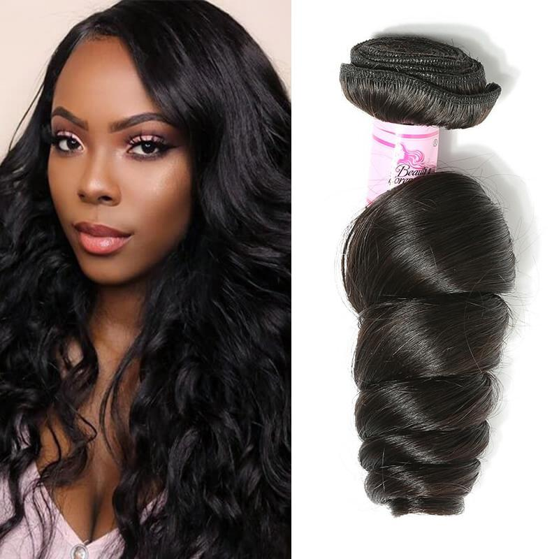 Indian Virgin Hair 100% Human Hair Loose Wave (#1B Natural Black)