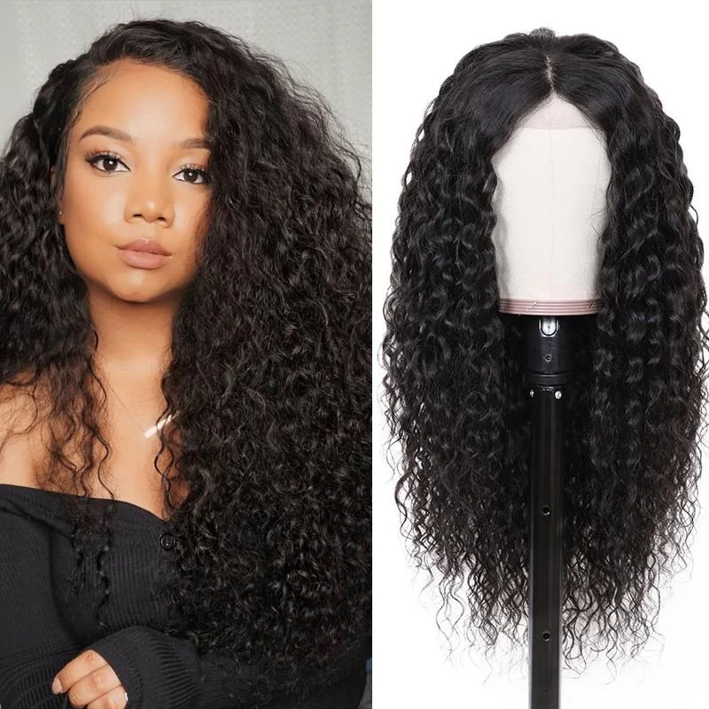 Pre-Plucked Lace Front Wig Virgin Hair Curly