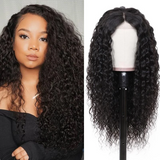 Pre-Plucked Lace Front Wigs Virgin Hair Curly Wig #1B