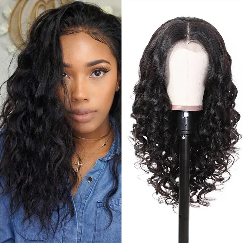 Pre-Plucked Lace Front Wig Virgin Hair Deep Wave