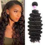 Malaysian Virgin Hair 100% Human Hair Deep Curly (#1B Natural Black)