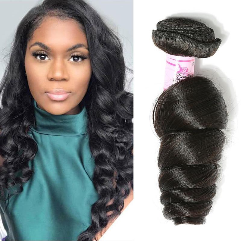 Malaysian Virgin Hair 100% Human Hair Loose Wave (#1B Natural Black)