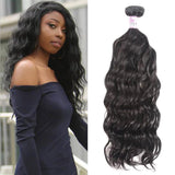 Malaysian Virgin Hair 100% Human Hair Natural Wave (#1B Natural Black)