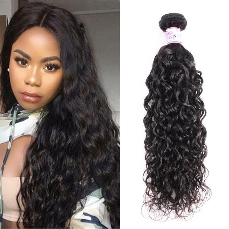 Malaysian Virgin Hair 100% Human Hair Water Wave (#1B Natural Black)