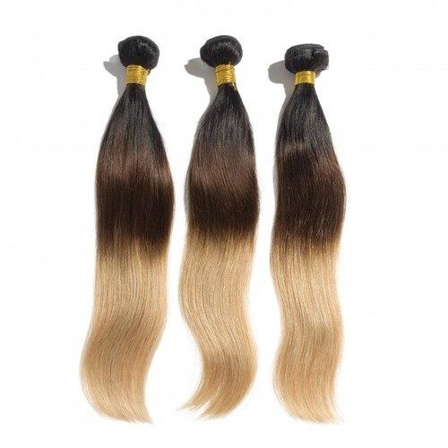 12 – 26 Inch Ombre Hair Human Remy Hair Extensions Straight (#1B/4/27)