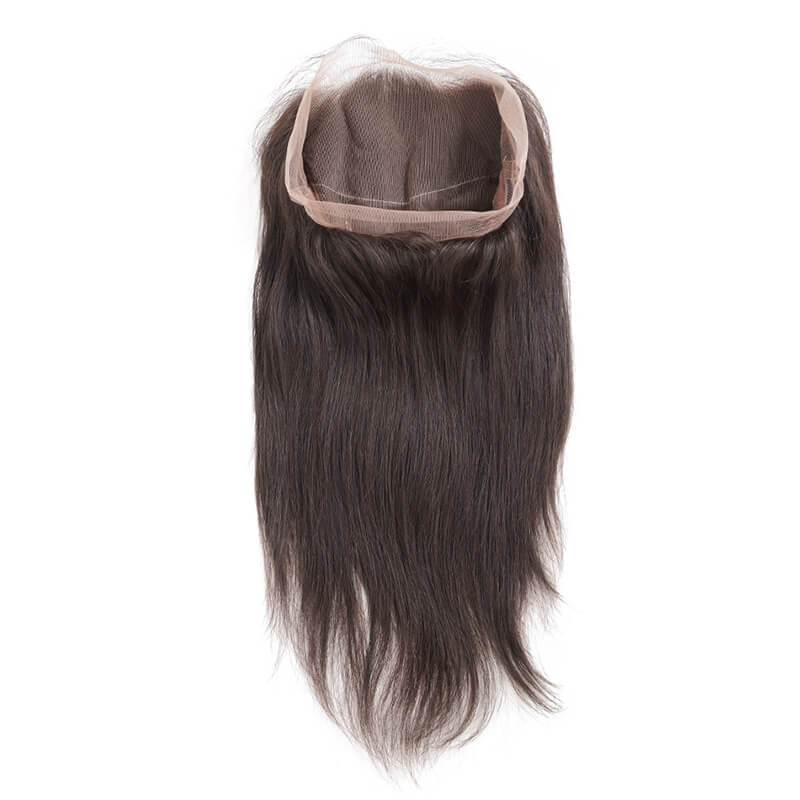 10 – 20 Inch 360 Lace Frontal Straight #1B Natural Black