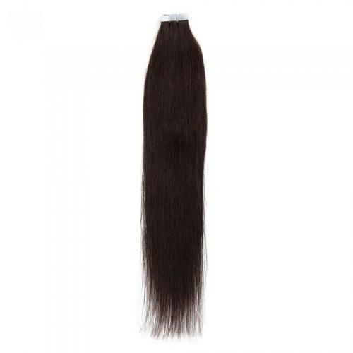 16 – 24 Inch Tape In Remy Hair Extensions Straight (#2 Dark Brown)
