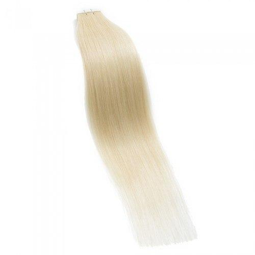 16 – 24 Inch Tape In Remy Hair Extensions Straight (#613 Bleach Blonde)