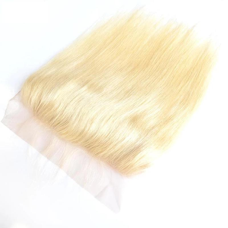 10 – 20 Inch Virgin Hair Straight Transparent Lace Frontal (#613 Bleach Blonde)