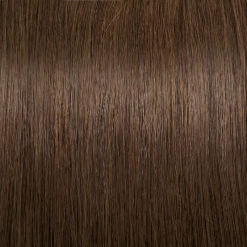 16 – 24 Inch Nail U Tip Remy Hair Extensions Straight (#4 Medium Brown)