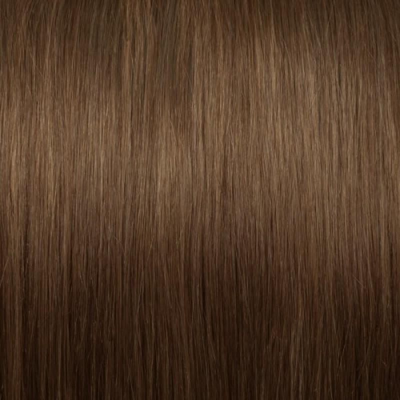 16 – 24 Inch Nail U Tip Remy Hair Extensions Straight (#8 Light Brown)