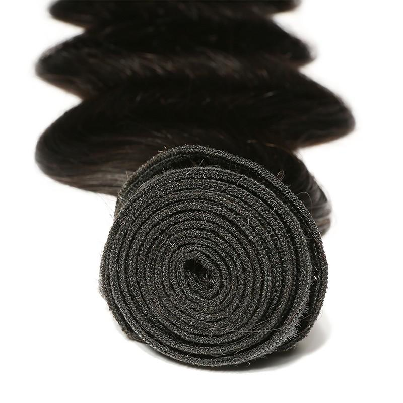 10 – 30 Inch Malaysian Virgin Hair 100% Human Hair Body Wave (#1B Natural Black)